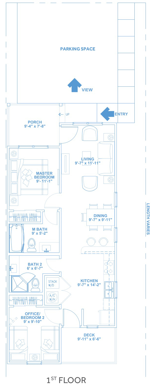 Las Joyas South Padre Beach Houses - Beach House A4 First Floor Plan