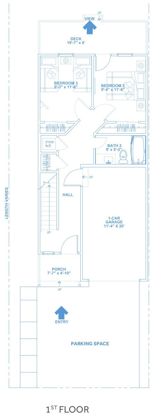 Las Joyas South Padre Beach Houses - Beach House B1First Floor Plan