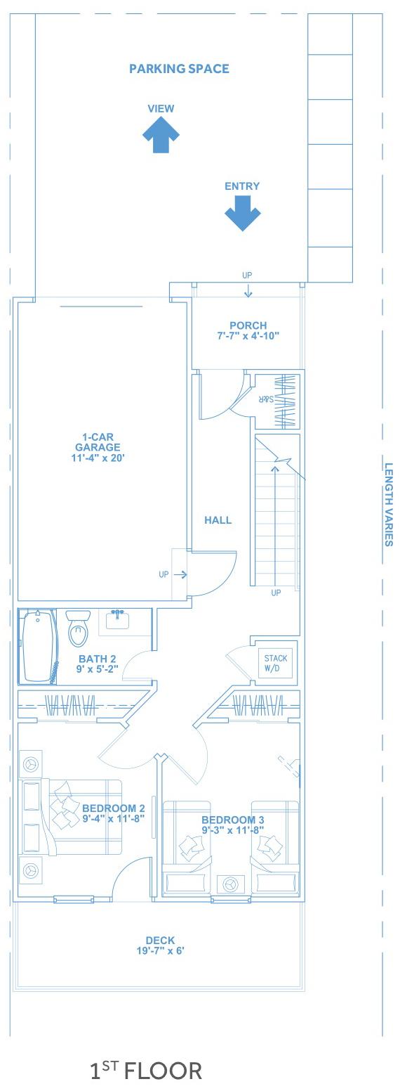 Las Joyas South Padre Beach Houses - Beach House B2 First Floor Plan
