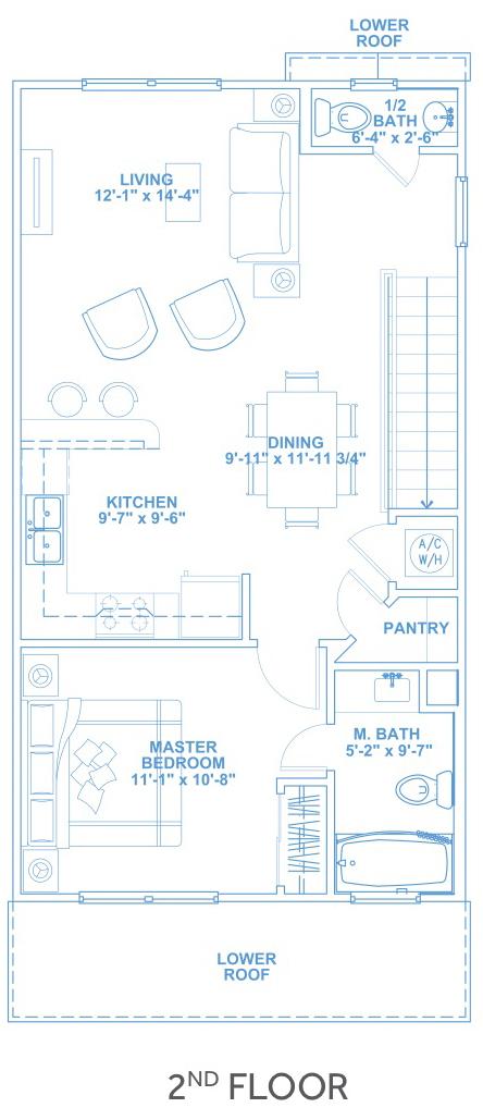 Las Joyas South Padre Beach Houses - Beach House B2 Second Floor Plan