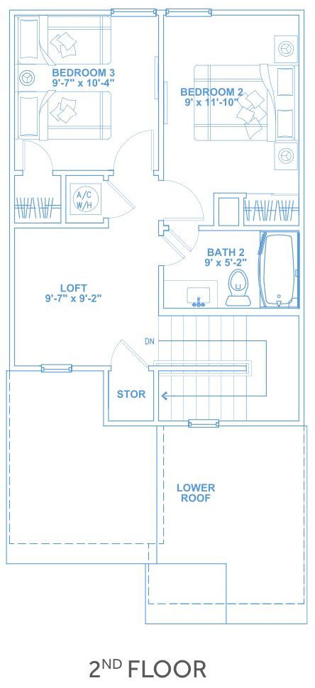 Las Joyas South Padre Beach Houses - Beach House C1 Second Floor Plan