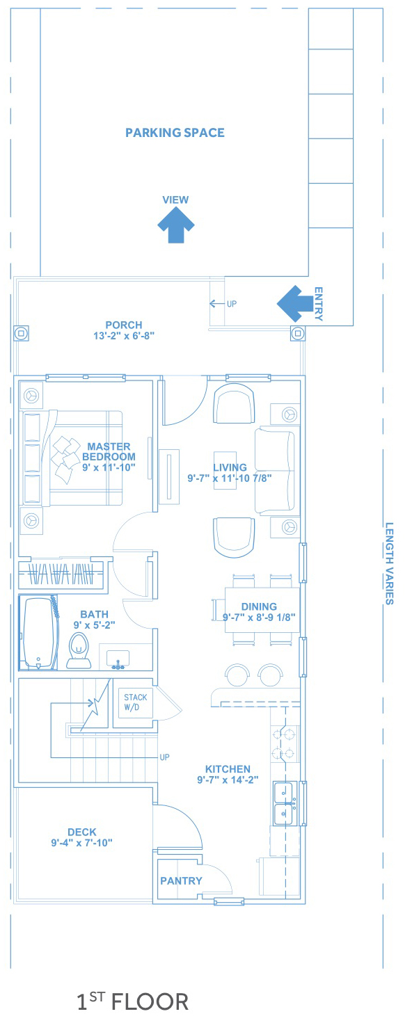 Las Joyas South Padre Beach Houses - Beach House C2 First Floor Plan
