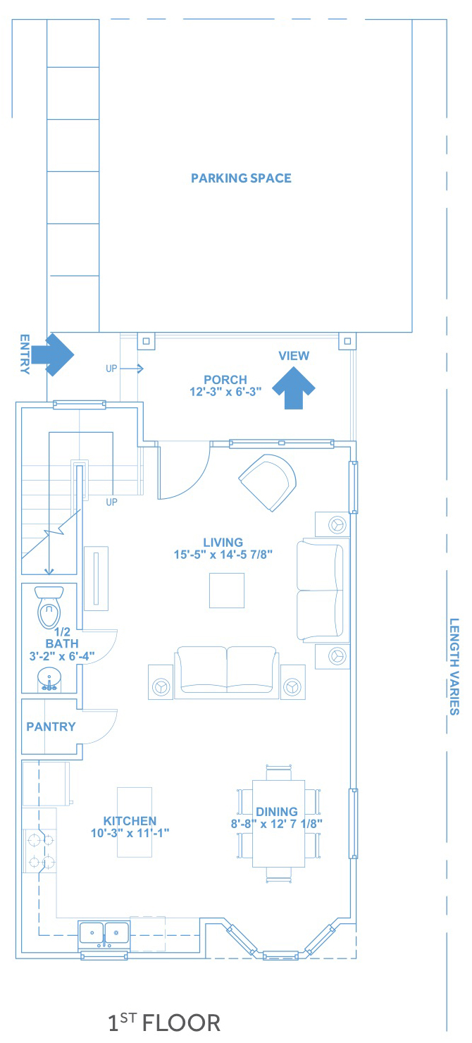 Las Joyas South Padre Beach Houses - Beach House D1 First Floor Plan
