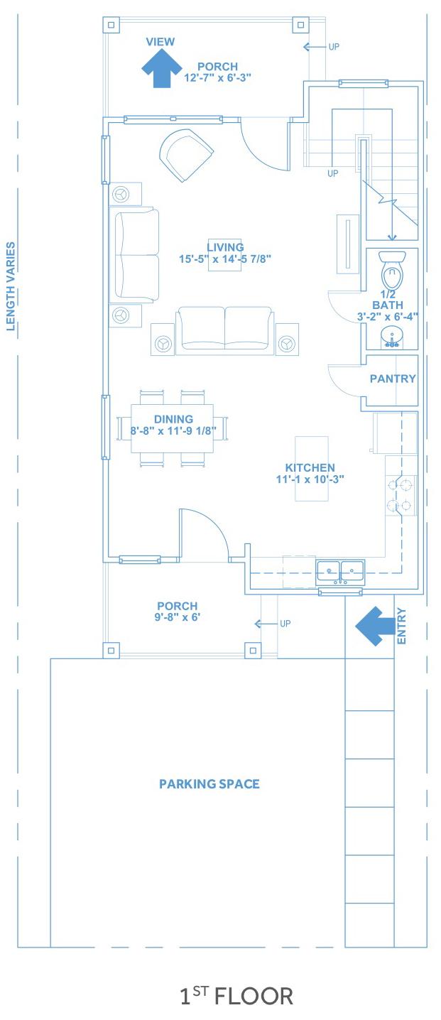 Las Joyas South Padre Beach Houses - Beach House D1 First Floor Plan