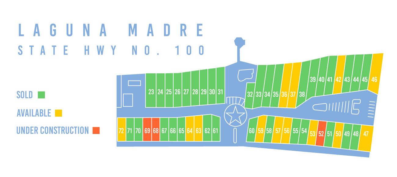 Las Joyas South Padre Beach Houses - Beach Houses for Sale - Project Map